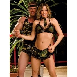 Fantasia Militar Masculino - Casal