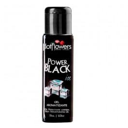 Power Black Ice Gel Comestível Eletrizante Hot Flowers