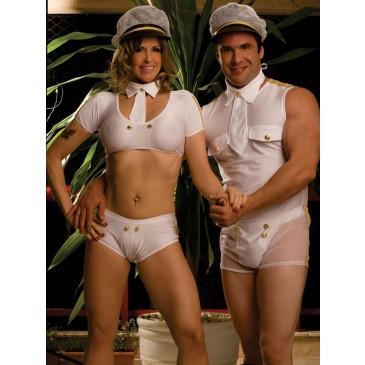 Fantasia Marinheiro Masculino - Casal