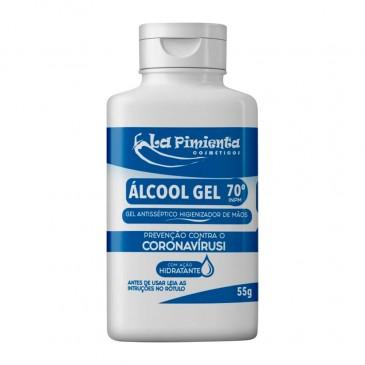 ALCOOL EM GEL 70 INPM ANTISSEPTICO HIGIENIZADOR DE MAOS COM HIDRATANTE PREVENCAO CORONAVIRUS 55G