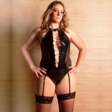 Fantasia Plus Size Body Exótico Aline