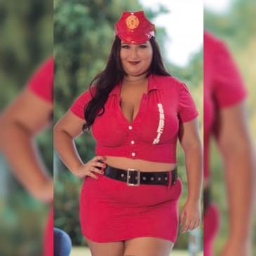 Fantasia Plus Size Bombeira Aline
