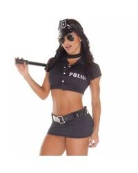 Fantasia Policial Feminina Aline SexShop Outlet do Prazer