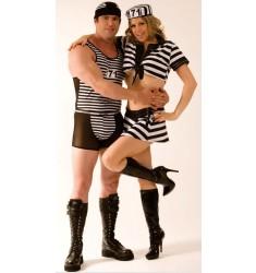 Fantasia Prisioneiro Fugitivo Masculino - Casal