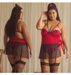 Fantasia Plus Size Chefe da UTI Sexual Aline