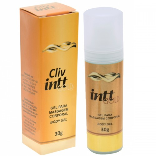 Cliv Intt Gold Gel Lubrificante para Sexo Anal Extra Forte