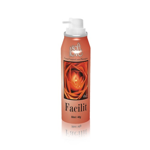Facilit Creme Corporal para Massagem Aerosol Soft Love