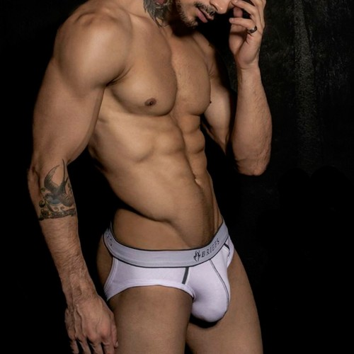 Jockstrap Slip Bottom Free Branco Briefs