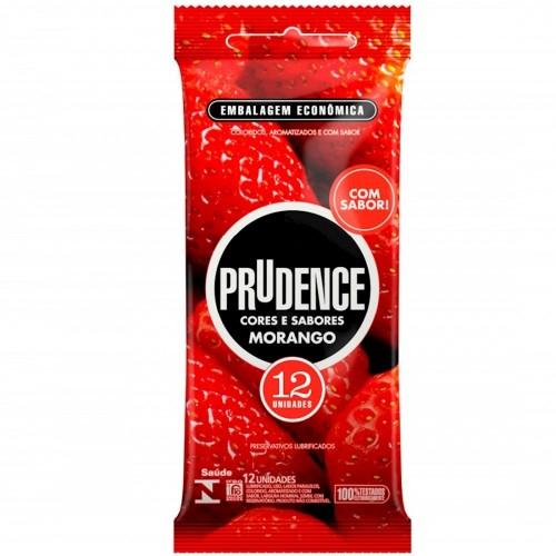 Preservativo Prudence Morango SexShop Outlet do Prazer
